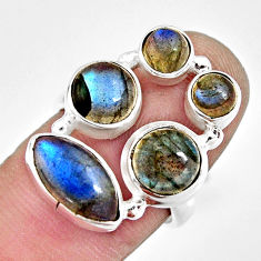 925 sterling silver 10.30cts natural blue labradorite ring jewelry size 7 r13647