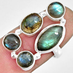 10.04cts natural blue labradorite 925 sterling silver ring jewelry size 8 r13653