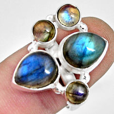 8.27cts natural blue labradorite 925 sterling silver ring size 8.5 r13655
