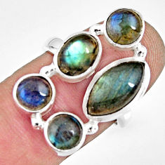 10.30cts natural blue labradorite 925 sterling silver ring jewelry size 7 r13656