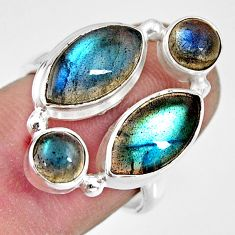 12.07cts natural blue labradorite 925 sterling silver ring jewelry size 7 r13662