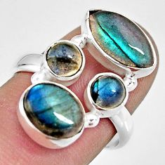 11.66cts natural blue labradorite 925 sterling silver ring jewelry size 8 r13663