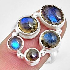 7.78cts natural blue labradorite 925 sterling silver ring jewelry size 8 r13666