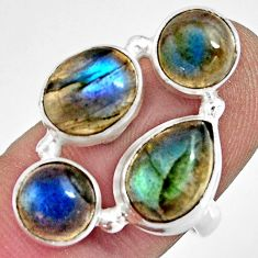 7.78cts natural blue labradorite 925 sterling silver ring size 6.5 r13672