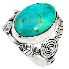 9.42cts blue arizona mohave turquoise 925 silver solitaire ring size 6.5 r13807