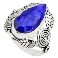 8.67cts natural blue sapphire 925 silver solitaire ring jewelry size 8 r13808