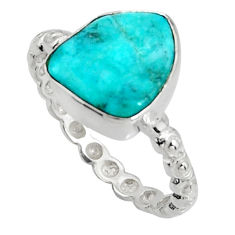 4.04cts blue sleeping beauty turquoise 925 sterling silver ring size 7 r14292