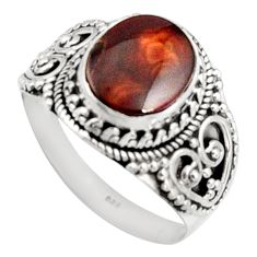 5.01cts natural mexican fire opal 925 silver solitaire ring size 11 r14477