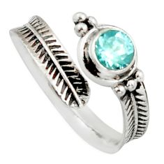 1.11cts natural blue topaz 925 sterling silver adjustable ring size 9 r14565