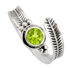 925 sterling silver 1.04cts natural green peridot adjustable ring size 10 r14567