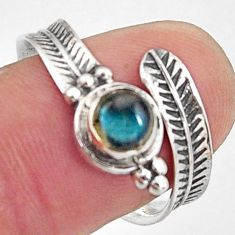 1.04cts natural blue labradorite 925 silver adjustable ring size 9 r14575