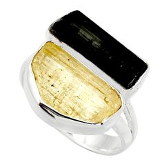 925 sterling silver 12.96cts scapolite tourmaline rough fancy ring size 8 r14977