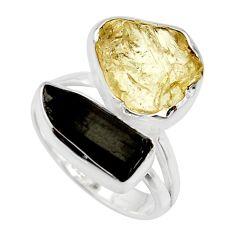 12.06cts scapolite tourmaline rough 925 sterling silver ring size 7 r14978