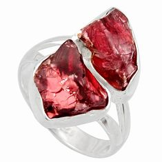 925 silver 11.21cts natural red garnet rough fancy solitaire ring size 6 r14999