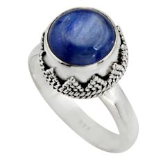 925 sterling silver 5.30cts natural blue kyanite solitaire ring size 9 r15444