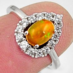 925 silver 1.88cts natural multi color ethiopian opal topaz ring size 5 r15530