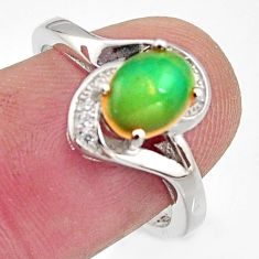2.93cts natural multi color ethiopian opal topaz 925 silver ring size 7.5 r15539