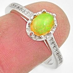 2.72cts natural ethiopian opal 925 silver ring size 7.5 r15541