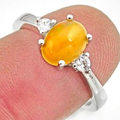 2.89cts natural ethiopian opal 925 silver ring size 6 r15542