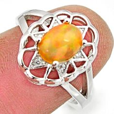 2.58cts natural ethiopian opal 925 silver ring size 7 r15550