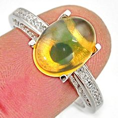 5.10cts natural ethiopian opal 925 silver ring size 8 r15551