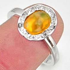 2.72cts natural multicolor ethiopian opal 925 silver ring size 7 r15556