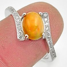 2.87cts natural multicolor ethiopian opal 925 silver ring size 7 r15578