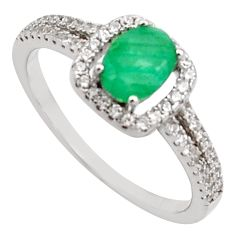2.72cts natural green emerald cubic zirconia 925 silver ring size 8 r15607