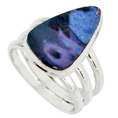 925 silver 6.54cts natural doublet opal australian solitaire ring size 8 r15670