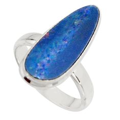 4.52cts natural doublet opal australian silver solitaire ring size 6.5 r15675