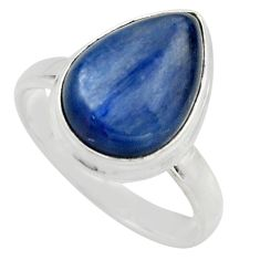 6.04cts natural blue kyanite 925 sterling silver solitaire ring size 8 r15701