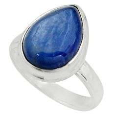 925 sterling silver 6.04cts natural blue kyanite solitaire ring size 7 r15704
