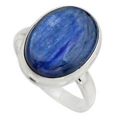 10.57cts natural blue kyanite 925 silver solitaire ring jewelry size 8 r15705