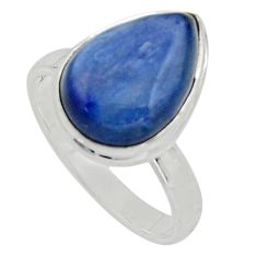 6.02cts natural blue kyanite 925 sterling silver solitaire ring size 8 r15706