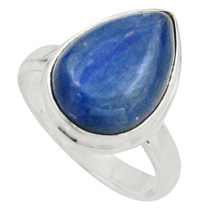 6.36cts natural blue kyanite 925 sterling silver solitaire ring size 6 r15708