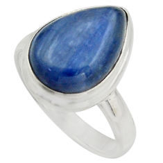 6.27cts natural blue kyanite 925 sterling silver solitaire ring size 7 r15709