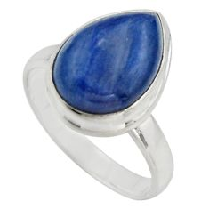 925 sterling silver 6.31cts natural blue kyanite solitaire ring size 8 r15710
