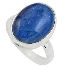 10.60cts natural blue kyanite 925 silver solitaire ring jewelry size 8 r15711