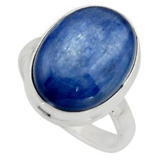 10.60cts natural blue kyanite 925 silver solitaire ring jewelry size 7 r15712