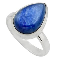 925 sterling silver 6.04cts natural blue kyanite solitaire ring size 8 r15715