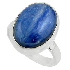 925 silver 10.60cts natural blue kyanite solitaire ring jewelry size 7 r15719