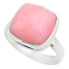 6.36cts natural pink opal 925 sterling silver solitaire ring size 7 r15730