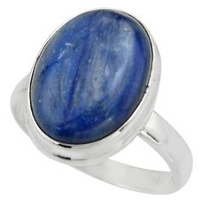 925 silver 10.60cts natural blue kyanite solitaire ring jewelry size 9 r15737