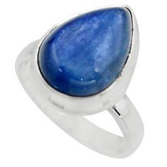 925 sterling silver 6.02cts natural blue kyanite solitaire ring size 6 r15739