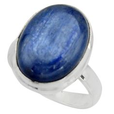10.60cts natural blue kyanite 925 silver solitaire ring jewelry size 6.5 r15740
