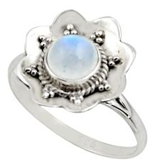 925 silver 1.44cts natural rainbow moonstone solitaire ring size 8 r16097