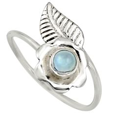 Natural rainbow moonstone silver solitaire adjustable ring size 10 r16139