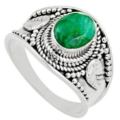 925 sterling silver 2.13cts natural green emerald solitaire ring size 7 r16168