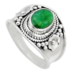 2.01cts natural green emerald 925 sterling silver solitaire ring size 7 r16170