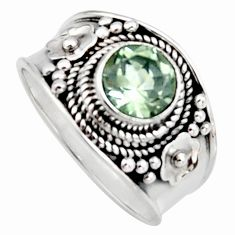 2.21cts natural green amethyst 925 silver solitaire ring jewelry size 7 r16201